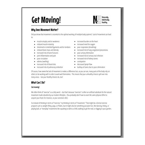 Get Moving handout