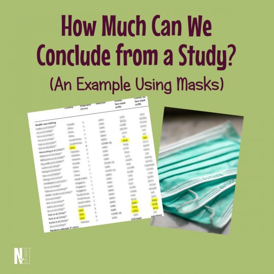 How Much Can We Conclude from a Study? An Example Using Masks (square title image)