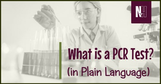 What is a PCR Test? (In Plain Language) - Facebook title image